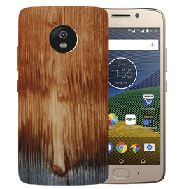 Wooden Art Printed Case Cover For Motorola G5 by Mobiflip