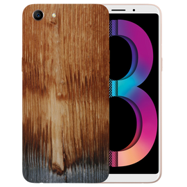 Wooden Art Printed Case Cover For OPPO A83 by Mobiflip