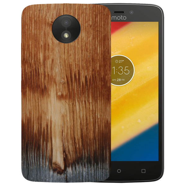 Wooden Art Printed Case Cover For Motorola C by Mobiflip
