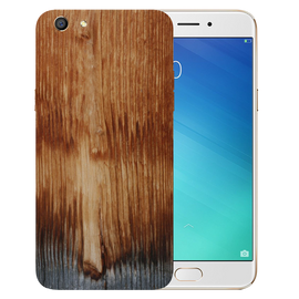 Wooden Art Printed Case Cover For OPPO F3 by Mobiflip