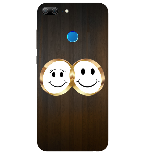 Smiling Face Printed Case Cover For HONOR 9 Lite by Mobiflip