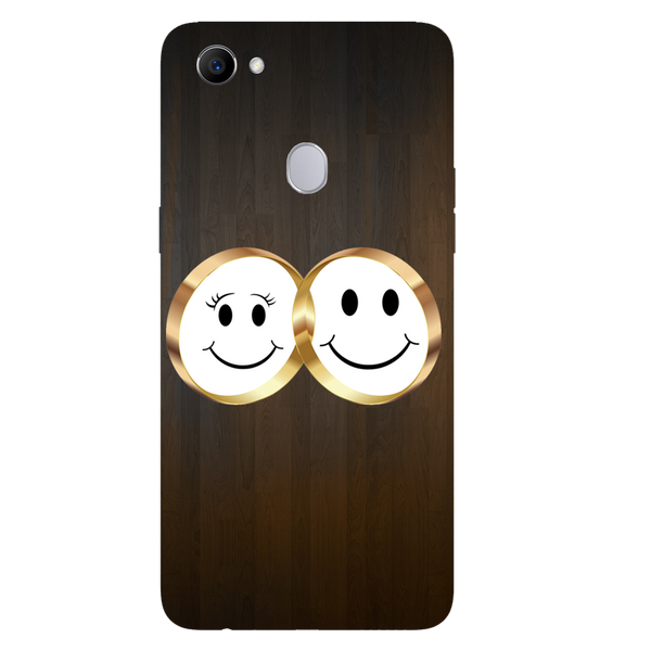 Smiling Face Printed Case Cover For OPPO F7 by Mobiflip