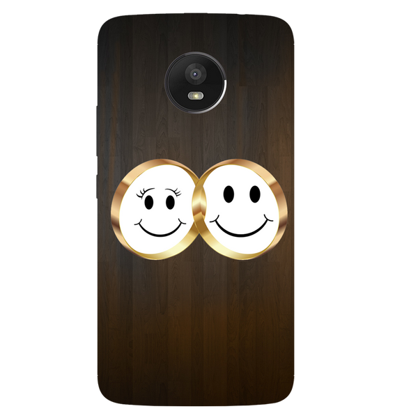 Smiling Face Printed Case Cover For Motorola E4 by Mobiflip