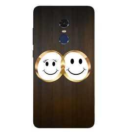 Smiling Face Printed Case Cover For Redmi Note 4 by Mobiflip