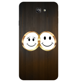 Smiling Face Printed Case Cover For Samsung J7 Prime 2 by Mobiflip