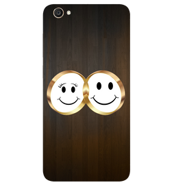 Smiling Face Printed Case Cover For VIVO Y55 by Mobiflip