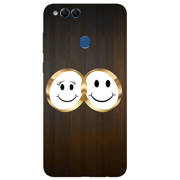 Smiling Face Printed Case Cover For HONOR 7X by Mobiflip