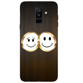 Smiling Face Printed Case Cover For Samsung C7 Pro by Mobiflip