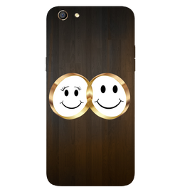 Smiling Face Printed Case Cover For OPPO F3 by Mobiflip