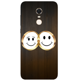 Smiling Face Printed Case Cover For Redmi 5 Plus by Mobiflip