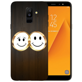 Smiling Face Printed Case Cover For Samsung A6 Plus by Mobiflip