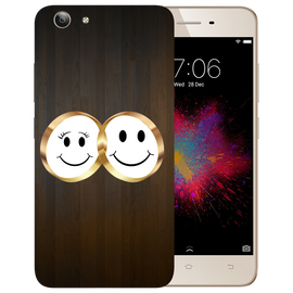 Smiling Face Printed Case Cover For VIVO Y53 by Mobiflip