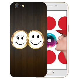 Smiling Face Printed Case Cover For OPPO A57 by Mobiflip