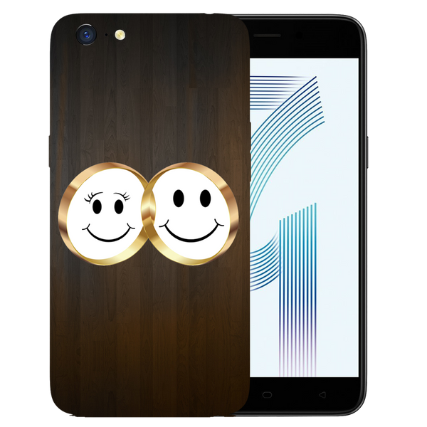 Smiling Face Printed Case Cover For OPPO A71 by Mobiflip