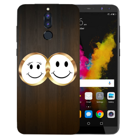 Smiling Face Printed Case Cover For HONOR P9I by Mobiflip
