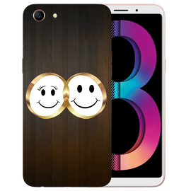 Smiling Face Printed Case Cover For OPPO A83 by Mobiflip