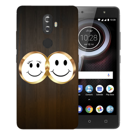 Smiling Face Printed Case Cover For Lenovo K8 Plus by Mobiflip