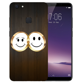 Smiling Face Printed Case Cover For VIVO V7 Plus by Mobiflip