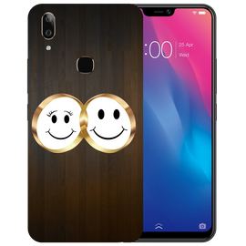Smiling Face Printed Case Cover For VIVO V9 Youth by Mobiflip