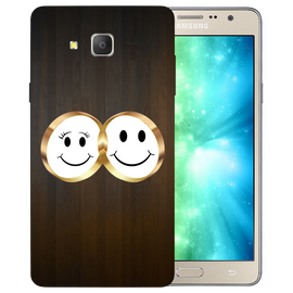 Smiling Face Printed Case Cover For Samsung J2 2016 by Mobiflip