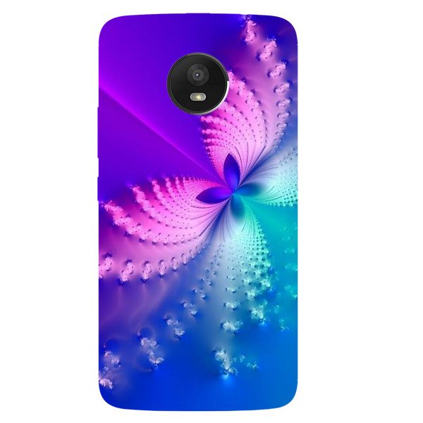 Butterfly Art Printed Case Cover For Motorola E4 by Mobiflip