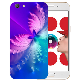 Butterfly Art Printed Case Cover For OPPO A57 by Mobiflip