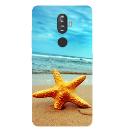 Star Fish Printed Case Cover For Lenovo K8 Plus by Mobiflip