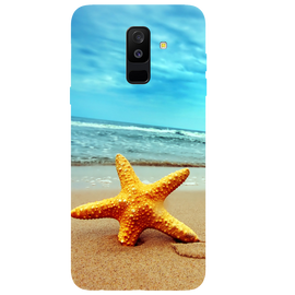 Star Fish Printed Case Cover For Samsung A6 Plus by Mobiflip