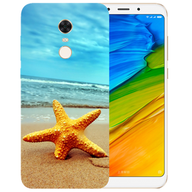 Star Fish Printed Case Cover For Redmi 5 Plus by Mobiflip