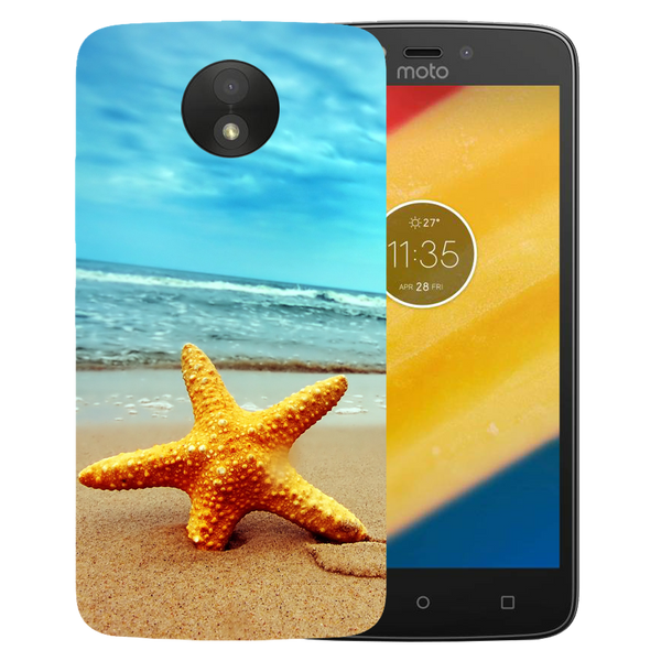 Star Fish Printed Case Cover For Motorola C Plus by Mobiflip