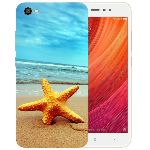 Star Fish Printed Case Cover For Redmi Y1 Lite by Mobiflip