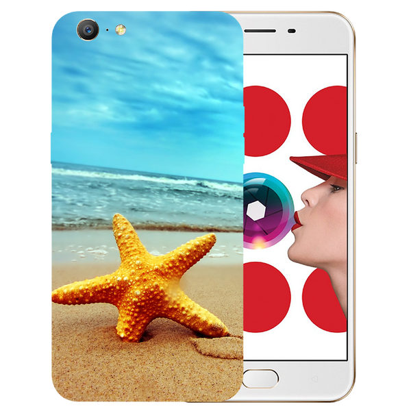 Star Fish Printed Case Cover For OPPO A57 by Mobiflip