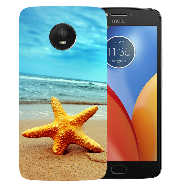 Star Fish Printed Case Cover For Motorola E4 by Mobiflip