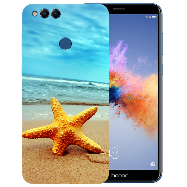 Star Fish Printed Case Cover For HONOR 7X by Mobiflip