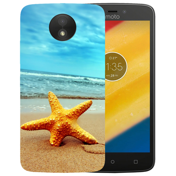 Star Fish Printed Case Cover For Motorola C by Mobiflip