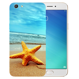 Star Fish Printed Case Cover For OPPO F3 by Mobiflip