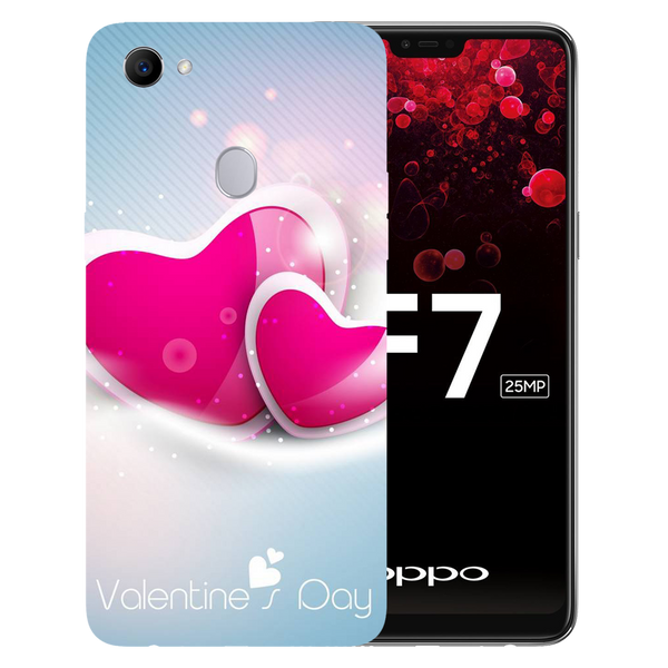 Valentines Day Printed Case Cover For OPPO F7 by Mobiflip