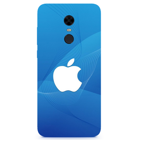 Blue Apple Printed Case Cover For Redmi Note 5 by Mobiflip