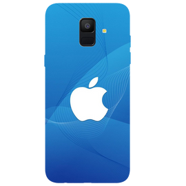 Blue Apple Printed Case Cover For Samsung A6 by Mobiflip