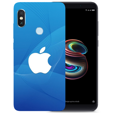 Blue Apple Printed Case Cover For Redmi Note 5 Pro by Mobiflip