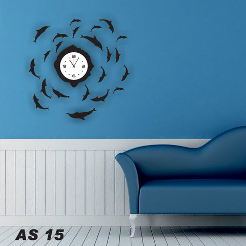 Antique Acrylic Fish Designer wall clock for Home and Office