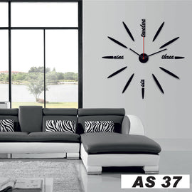 Antique Acrylic Art Designer wall clock for Home and Office AS37