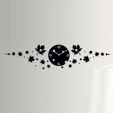 Antique Acrylic Leafs Designer wall clock for Home and Office