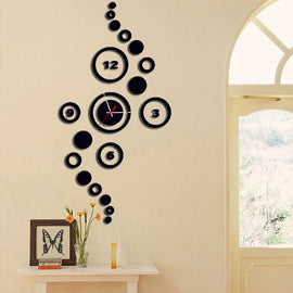 Antique Acrylic Circle Art Designer wall clock for Home and Office