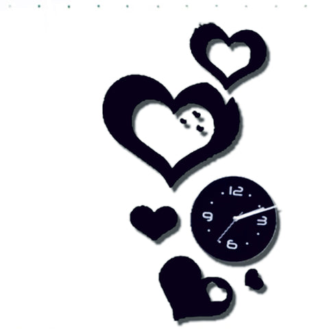 Antique Acrylic Heart Designer wall clock for Home and Office