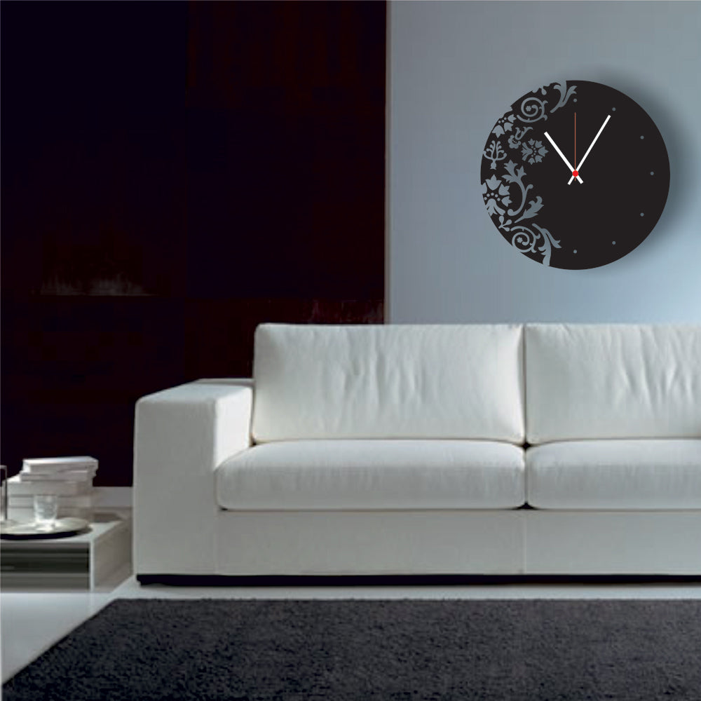 Antique Acrylic Circle Art Designer wall clock for Home and Office AS53