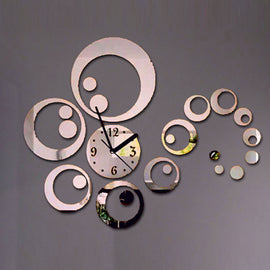 Antique Acrylic Circle Art Designer wall clock for Home and Office AS58