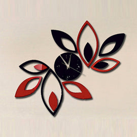 Antique Acrylic Leaf Art Designer wall clock for Home and Office AS59