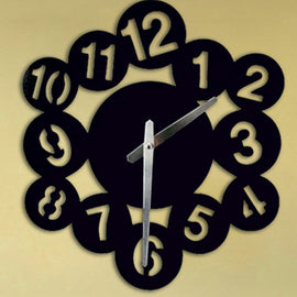Antique Acrylic Circle Numbers Art Designer wall clock for Home and Office