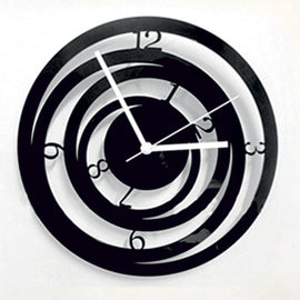 Antique Acrylic Circle Art Designer wall clock for Home and Office AS65